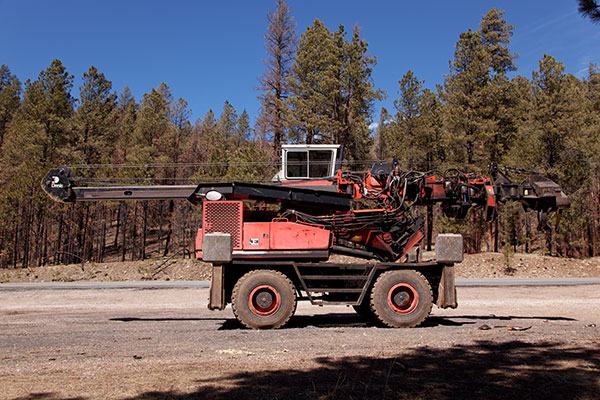 Logging equipment Stroke Delimber in Apache National Forest Arizona
