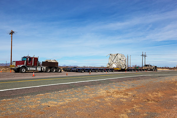 Oversize load Arizona State Road 80