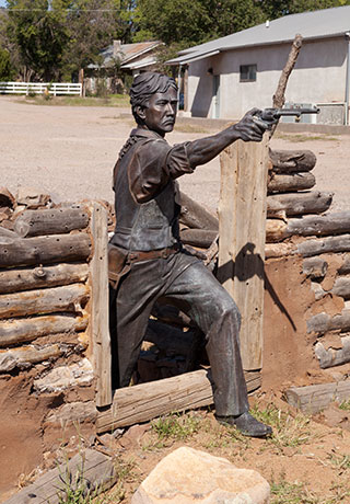 Statue of Elfego Baca, Town Park, Reserve, New Mexico