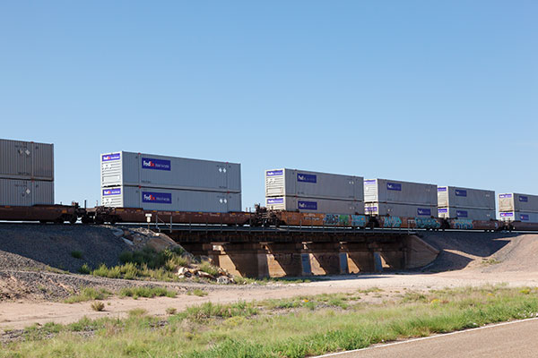 Intermodal Containers on BNSF train in east central New Mexico