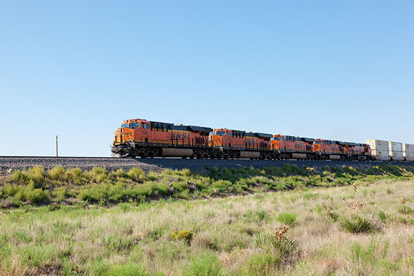 BNSF Locomotives in east central New Mexico