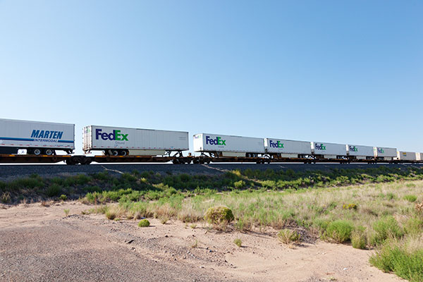 Intermodal Trailers on BNSF train in east central New Mexico