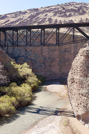 Gila River Bridge, Morenci Southern Railway, north of Guthrie,  Arizona