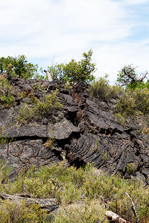 Edge of Lava Flow in Narrows Area, El Malpais National Monument