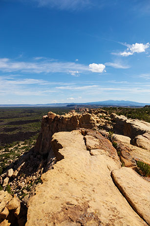 View from Sandstone Bluffs Overlook, El Malpais National Monument